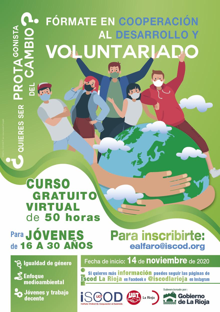 Curso on-line Cooperación al desarrollo y Voluntariado
